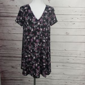 West loop Women's Black Floral Print Dress